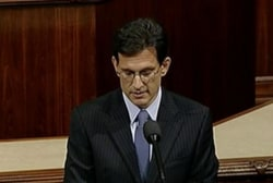Eric Cantor's official last day in office