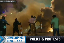 Intense clashes in Ferguson