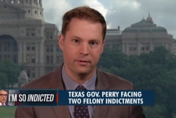 What's Texas' reaction to Perry's indictment?