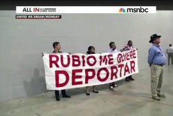 DREAMers confront Rubio at fundraiser