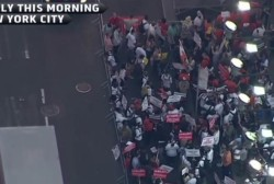 Fast food workers demand wage increase