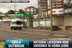National lockdown underway in Sierra Leone