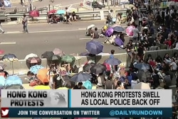 The 'Umbrella Revolution' grows in Hong Kong