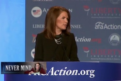 Michele Bachmann re-writes history