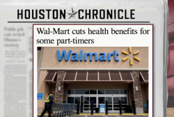 Wal-Mart to cut health care for some workers