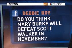 Can Burke win in Wisconsin?