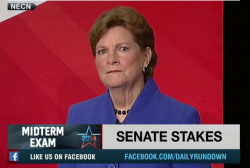 Brown, Shaheen spar over energy in debate