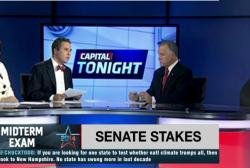 Thom Tillis debates an empty chair