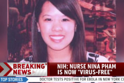 Dallas nurse with Ebola now 'virus-free'