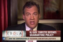 Christie doubles down on Ebola quarantine