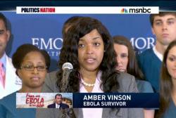 Nurse Amber Vinson is headed home