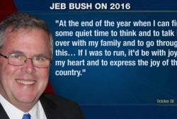 Jeb Bush doing a dry run for 2016?