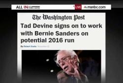 Is Senator Sanders running for president?
