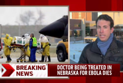 Doctor treated in US dies of Ebola symptoms
