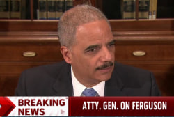 Eric Holder updates on Ferguson investigation