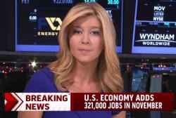 Report: 321,000 jobs added in November