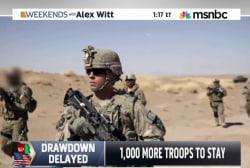 Hagel: More troops to stay in Afghanistan