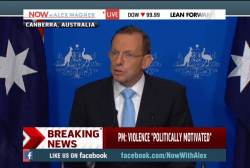 PM condemns 'politically motivated' violence