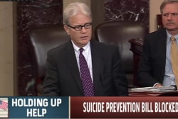Senate fails to pass suicide prevention aid