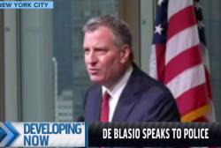 NYC mayor: We stand by Liu, Ramos families