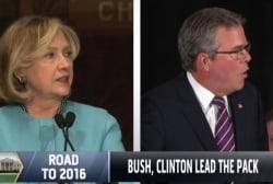 Bush, Clinton lead 2016 matchup