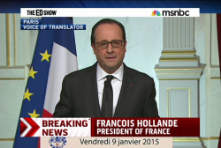 World leaders stand with France