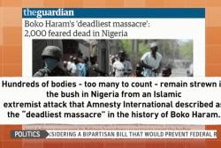 Nigeria still reeling from Boko Haram...