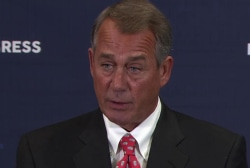 Boehner: not 'poking anyone in the eye'
