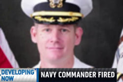 Navy commander fired