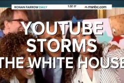 YouTube stars storm White House