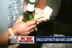 Dartmouth bans hard alcohol?