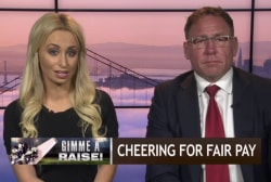 Cheerleaders speak out over fair pay