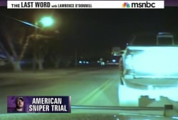 Sniper trial jury shown police dashcam video