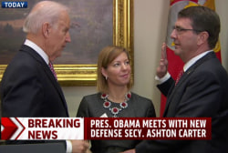 Ashton Carter sworn in as Defense secretary