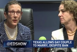 Same-sex couple marries in Texas