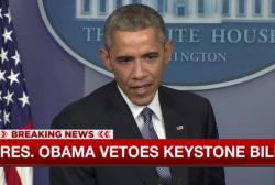 Pres. Obama vetoes Keystone pipeline