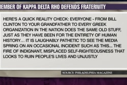 Member defends Penn State fraternity