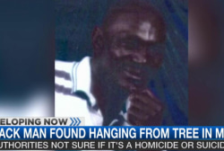Missing black man found hanging from tree