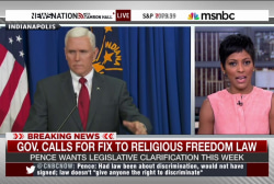 Pence calls for fix to religious freedom law