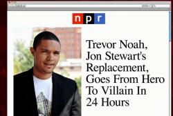 'Not a good first impression' for Trevor Noah