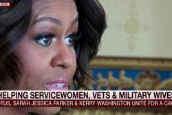 Michelle Obama's message to servicewomen