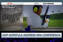 GOP hopefuls address NRA conference