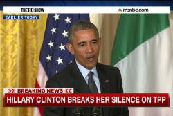 Hillary Clinton breaks silence on TPP