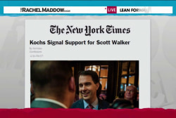 Scott Walker wins 'Koch brothers primary'