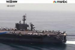 Warships off the coast of Yemen