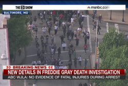 Marchers in the streets of Baltimore
