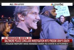 Protester faces off with Geraldo Rivera