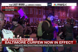 Night three of curfew in Baltimore