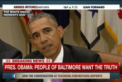 Obama: People of Baltimore want truth