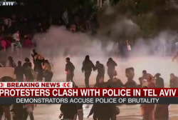 Water cannons, stun grenades used on...